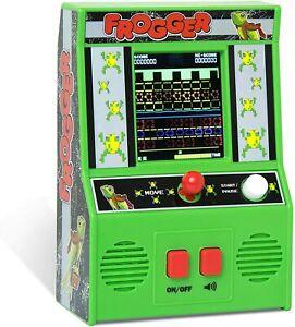 Frogger Retro Mini Arcade Classic Handheld Game Looks Like Upright Cabinet NEW