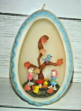 Large Vintage Diorama Wax Easter Egg Candle