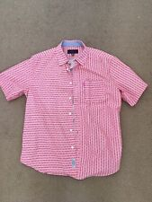 MISHKA NYC MNWKA BONEYARD BONES BUTTON-UP SHIRT SIZE LARGE PINK SALMON 2013