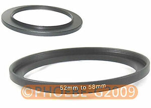 52mm to 58mm 52-58 mm Step Up Filter Ring  Adapter