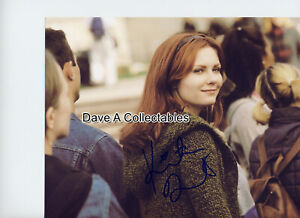"""KIRSTEN DUNST signed photo- """"Mary Jane Watson"""" in the original SPIDERMAN - D4617"""