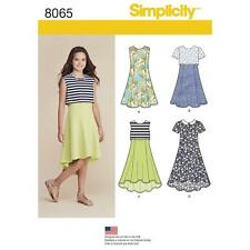 """Simplicity 8065aa """"girls and Girls Plus Dress or Popover Dress"""" Sewing Pattern"""