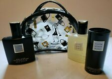 Avon Little Black Dress Shower Gel Powder Body Lotion Cosmetic Case Bag NOS