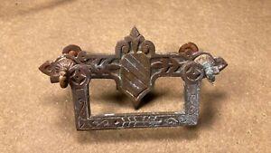 Antique Victorian Eastlake Dresser / Furniture Drawer Pull Handle Hardware
