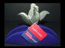 Retired COUNTRY SIMPLE Ceramic Napkin Holder COUNTRY ROOSTER Boston Warehouse