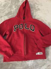 Boys Medium 10/12 Ralph Lauren Polo Sport Hoodie Red