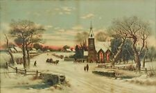 """Christmas Eve art print by Andrew Melrose, lithograph, 16 1/2"""" x 9 3/4"""""""