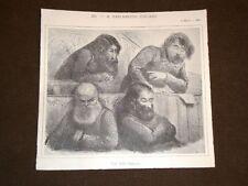 Caricatura Teja apparsa sul Pasquino Sinistra Ricciardi, Mellana e Depretis