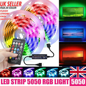 USB 5050 RGB LED STRIP LIGHTS COLOR CHANGING TAPE UNDER CABINET KITCHEN LIGHTING
