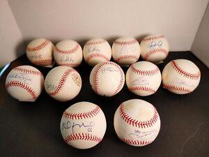 LOT (12) SIGNED MLB BASEBALLS DETROIT TIGERS MORE