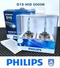 Genuine PHILIPS 6000K D1S Ultinon HID Flash White XenStart Xenon 35W Bulb x2 #TC