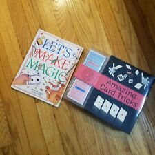 Card Tricks Lets Make Magic Book Set Magician