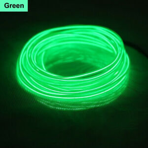 Electroluminescent EL Wire Glow String Lights Party Car Decoration + Controllers