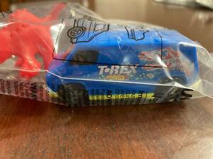 2020 Burger King Mattel HOT WHEELS T-Rex Van Toy (blue) & Figurine (red) sealed!