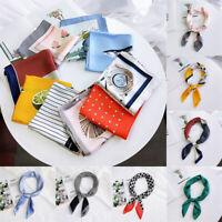 foulard les femmes square écharpe impression de satin de soie châle multicolor