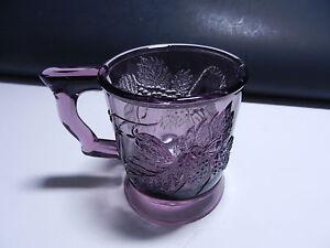 """LG Wright Strawberry & Currant Handled Mug Amethyst 3 3/8""""  T"""