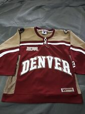 Zephyr NCAA Hockey Jersey Denver Pioneers Mens 44 Used Authentic