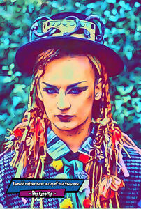Boy George Comic Icons Art Print (Available In 4 Formats)