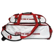 Vise White/Red 3 Ball Tote Bowling Bag With Shoe Pouch