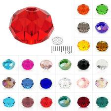 72-150pcs DIY Cristal Perles Rondelle Czech Collier Bijoux pour Bracelet 4/6/8mm