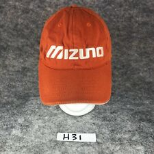 New listing MIZUNO Golf Hat Performance Apparel Embroidered Ball Cap Orange Strapback