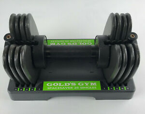 Gold's Gym Space Saver 25 Adjustable Weights Up to 25lbs