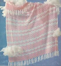 *Fancy Ripple Baby Afghan crochet PATTERN INSTRUCTIONS