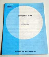 Partition sheet music MICHAEL JACKSON : Another Part Of Me * 80's EX