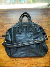 Givenchy  Nightingale Large Satchel Leather Black And Gold Bag