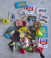 COOL Large Lot of Vintage 1980s Era Refrigerator Fridge Magnets LOOK