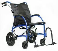 Strongback Excursion 12 Lightweight Transport Chair Wheelchair w Brake 16/18/20""