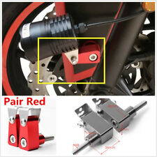 Pair Red Aluminum Motorcycle Modified Bracket Fog Light Spotlight Support Mount
