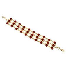 Handmade 14k Gold Plated Elegant Women's Fashionable Trendy Brass Chain Bracelet