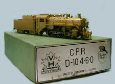 VH Samhongsa - LOCOMOTIVE VAPEUR STEAM US CPR H10 2-8-0 en laiton brass HO 1/87