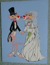 Pink Panther Original Hand Painted Groom and Bride Picture