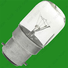 1x 15W Casquillo enano aparato incandescente BC B22 bombilla de luz, lámpara de pantalla, Nevera Etc
