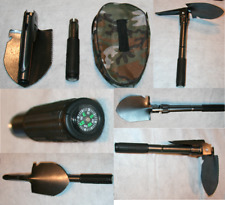 Mini Folding Shovel Military Style with Pick Tool and Case