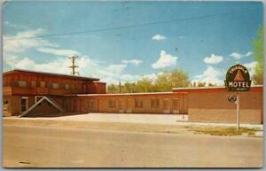 CASPER, Wyoming Postcard TRIANGLE C MOTEL Highway 20 Roadside / 1960 Cancel
