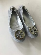 Tory Burch Reva Grey Ballerina Flats :Size 9 - AMAZING CONDITION