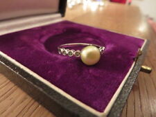 Hipper 925 Silber Ring Grüne Perle Vintage Retro Grüne Steine Elegant Designer