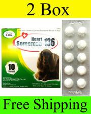 2 Box HEART SOMOMEC 136 PREVENT WORM HEART DISEASE DOGS 24-48 LB.