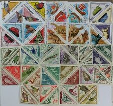 TRIANGLES, Triangle Shaped collection 50 different Used + Mint stamps (lot#DP)