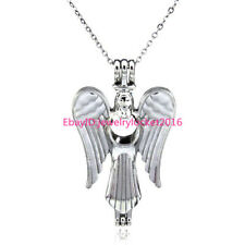 Angel Rock Bead Cage - Locket Necklaces Silver Pendant Akoya Oyster Charms -K51