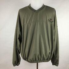 """FootJoy Men Jacket Large Green Windbreaker """"Raspberry Falls Golf Hunt Club"""" L/S"""