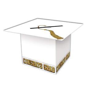 """Grad Cap Card Box 8½"""" x 8½"""" White"""