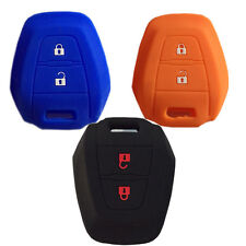 BLACK CAR KEY COVER CASE SILICONE PROTECTOR Fit For D-MAX MUX TRUCK ISUZU DMAX