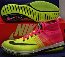 Nike Flyknit Elite Golf Shoes Pink Blast Black Volt White SZ 9 ( 844450-600 )
