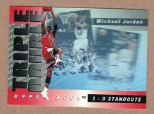 1993-94 Upper Deck Triple Double Michael Jordan #TD2 3-D Standouts Hologram - NM