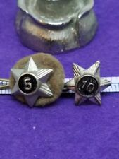 VINTAGE 1960'S UK BOY SCOUT 5 YEAR & 10 YEAR SERVICE STAR PIN LOT OF 2 COLLECTOR