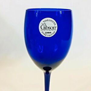 4 NEW Vintage Gibson Spice Cobalt Blue Wine Glasses 10 oz NIB